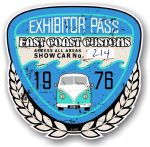 Aged Vintage 1976 Dated Car Show Exhibitor Pass Design Vinyl Car sticker decal  89x87mm
